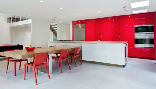 Red High Gloss Kitchen Cabinetry