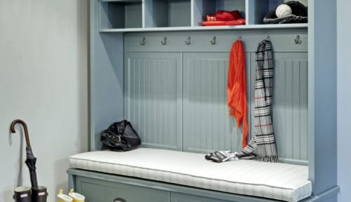 Blue Mud Room Cabinet Wardrobe