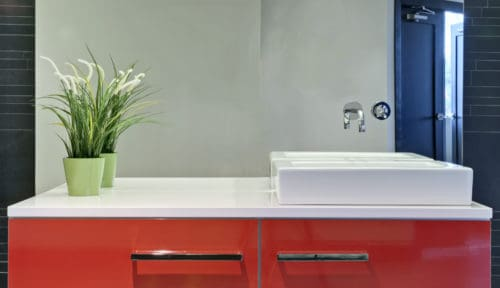 Red Cabinet Vanity